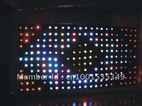 Free Shipping cost Dmx 512  2meters by 3meter P18 LED Video curtain, LED Vision Clothes, RGB Video Clothes