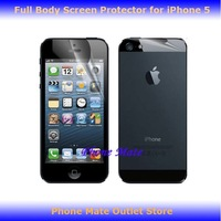 Free Shipping Full Body High Clear Screen Protector For iPhone 5 5G iphone5 Front + Back 50pcs/lot