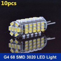 New Arrival G4 Led Bulbs Lamp For Chandelier Crystallights DC 12V 3020 68 SMD High Lumen Warm/Cool White Free Shipping 10pcs/lot