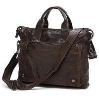 J.M.D Guaranteed 100% Genuine leather men messenger bags men's briefcase business men travel bags cowhide leather tote bag 2015