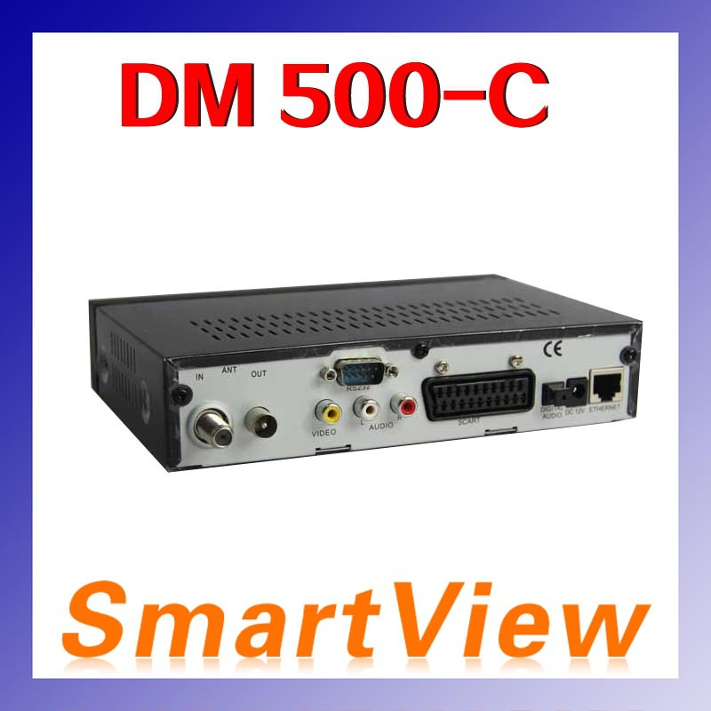 1pc set top box dm 500C 500-C DVB-C digital cable receiver free shipping post(China (Mainland))
