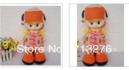 Free post cloth dolls girls cute doll plush toy doll orange give children a nice gift