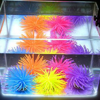 Silicone Aquarium Fish Tank Decor Artificial Coral Plant Underwater Decoration #23287