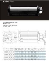 F60120AC cross flow fan/crossflowfan/draught fan/cross-flow fan