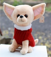 candice guo! super cute hot sale plush toy pet dog Chihuahua wearing sweater good for gift 20cm 1pc