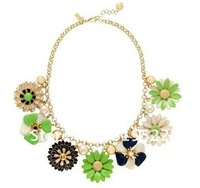 2012 NEW Posey Park Statement Necklace! Cost-effective! Flower Pearl Necklace!