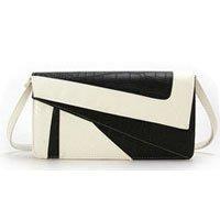 Hot Sale Guaranteed 100% Black and white contrast Chain type handle Hand bag Women's handbag crocodile pattern Free shipping