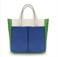 2013 new handbags   Casual Portable TMC Women Handbags Beach Bag Patchwork handbags women Satchel Bag YL082-2