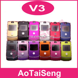 Singapore Post shipping Honest Tencent&v3 unlocked original RAZR mobile phones original russian russian keyboard support(China (Mainland))