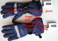 5 in 1 outdoor chargeable battery finger and back heating gloves by using  chargeable  battery . 8h warm-keeping outside