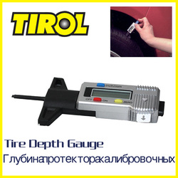 T20301a Digital LCD Tire Tread Depth Gauge 0-25.4mm Brake Shoe Pad Gauge Caliper Brand New(China (Mainland))