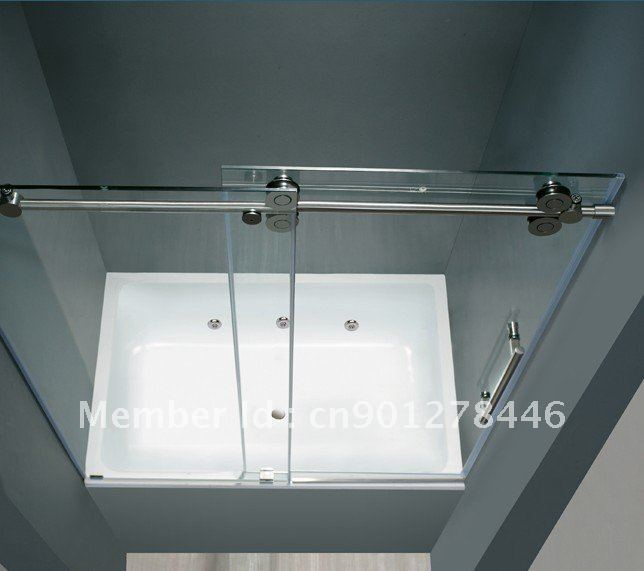 Elegant 304 Stainless SLIDING GLASS SHOWER DOOR HARDWARE(China (Mainland))