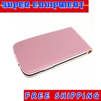 New Genuine Leather Vereical Slim Flip Case For Samsung Galaxy Note 2 N7100 Free Shipping UPS DHL CPAM HKPAM HH-79