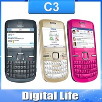 C3 Original Nokia C3-00  WIFI  2MP Bluetooth  Jave Unlock Cell Phone