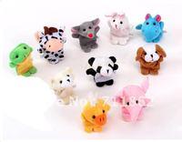 free shipping Models Animal Finger Puppet  finger puppet toy 10pcs/lot