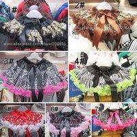 wholesale pettiskirts zebra leopard polka dot tutus animal skirts holiday party dress girls baby toddler children's dresses
