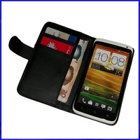 200 pcs/lot,  New Style Wallet  leather case for HTC One X, 3months guarantee,DHL  free shipping