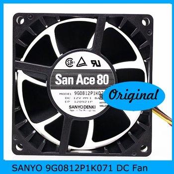 SANYO 9G0812P1K071 80mm DC12V 1.8A 51dBA 80X80X38mm 7500(min-1) Cooling DC Fan, Ball bearing PWM supportive