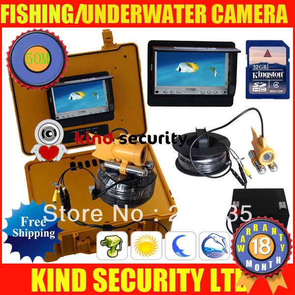 50m sony underwater cctv camera,underwater fishing camera,waterproof camera with battery,with Digital Video Recorder(China (Mainland))