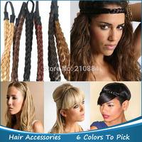 Fashion hair accessories head band Hair weaving elastic wig braid hair hoop Elastic Plaited Braid Free shipping 5pcs/lot
