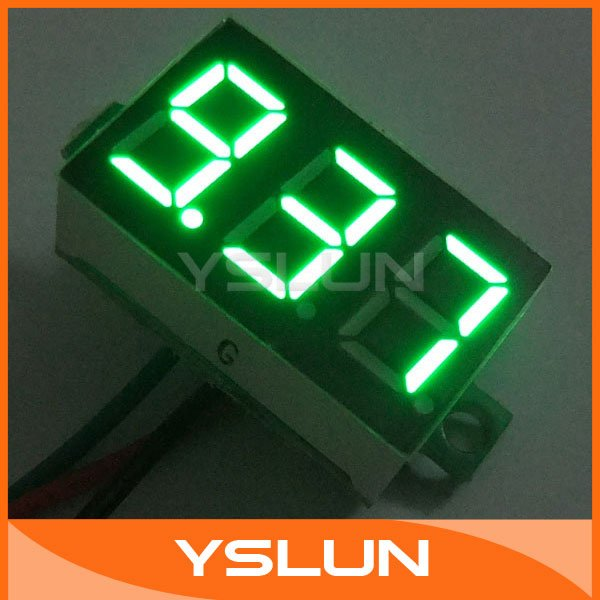"100 PCS/LOT DC Power Monitor Meter 0.36"" Digital Voltmeter Li-ion Cell Battery Power Monitor DC 0-10V with Install Ear #090846(China (Mainland))"