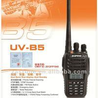 Newest handheld two way radio BaoFeng Dual Band walkie talkie UV-B5 Free shipping via HongKong Post