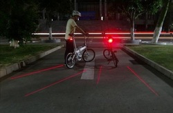 2012 explosion models Laser tail lights bicycle taillights bike lights mountain bike rear warning lamp Free shipping(China (Mainland))