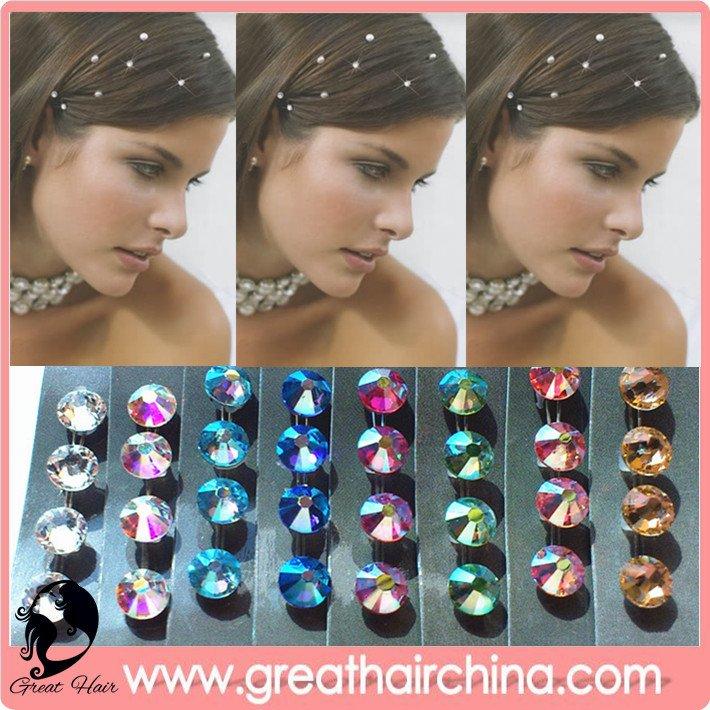 Wholesale - 1000 Packs Fashion Hair Bling /Hair Crystal Free shipping by DHL(China (Mainland))