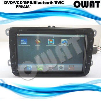 Pure Android 2.3 System, 3G, WIFI, 8 inch VW Bora GPS with Bluetooth, Radio