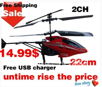 2CH Rc Helicopter Remote Control Helicopter Radio Control Metal HX713 RC Helicopter With light  Free Shipping
