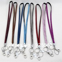 Free shipping assorted colors bling rhinestone neck strap lanyard wholesale
