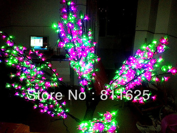 DHL Freeshipping  green+pink led cherry blossom tree light  /outdoor landscape lamp