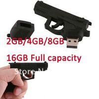 freeshipping 5pcs/lot 100%full capacity Cartoon design The simulation pistol,2GB/4GB/8GB/16GB USB Flash Disk Drives wholesales~