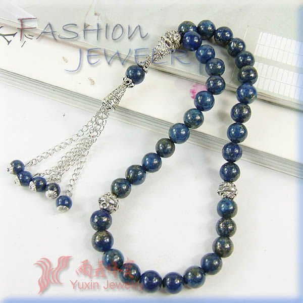 33 lapiz lazuli islamic muslim prayer beads Tasbih Allah free shipping(China (Mainland))