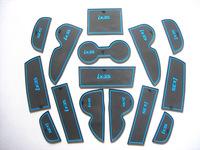 Free Shipping High quality Silica gel Gate slot pad,Teacup pad,Non-slip pad(15 pcs,Blue edge) For 2010-2012 Hyundai ix35
