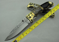 Carve High-carbon stainless Handmade Horn Handle Pocket Folding Knife WF-01