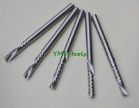 Free shipping New 5pcs 1/8'  2.0x17mm single flute CNC router bits endmill cutting tool 3.175x2.0x17x45mm
