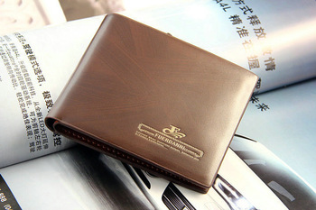 Promotion!!! Fashion men  casual cowhide Purse male genuine leather wallet ,2 style,free shipping
