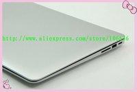 "DHL Free Shipping 13.3"" Super Slim Notebook PC Dual Core 4G/ 64G SSD Intel N2800 Aluminium Shell Webcam LED HD WIFI 8 cells"