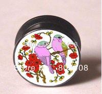 Cute birds screw ear plug  tunnel jewelry  body jewelry mixing sizes EPd465