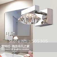 Factory price whoelsales Modern Crystal wall lamp For Bathroom, Living Room, Saloon, etc.(Chrome Color)ETL2021