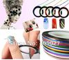 100pcs Silver Colors Striping Tape Metallic Yarn Line 3D Nail Art Decoration Sticker
