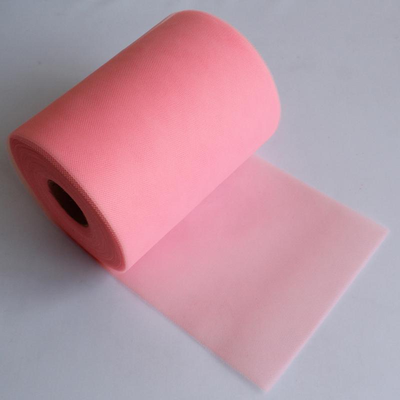 "Light Pink Tulle Roll Spool 6""x100YD Tutu DIY Circle Skirt Fabric Wedding Party Gift Bow Craft Decor Favor(China (Mainland))"