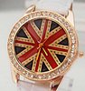 Holiday sale Gogoey UK flag fashion crystal watch Women ladies wholesale wrist quartz watch new arrival  go037