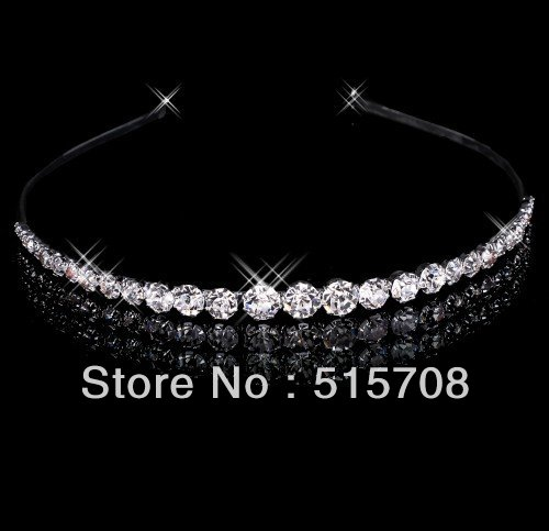 2012 Beautiful Clear Crystals Wedding Bridal Tiara/ Headpiece/ Headband(China (Mainland))