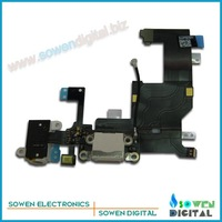 for iphone 5 5G Charger Dock Connector charging Flex Cable original new,Black/White,Free shipping,100% gurantee