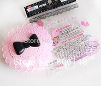 Free shipping 2pcs/lot  ladies fashion Eco-friendly false eyelash set boxes,girls convenient eyelash storage packaging cases