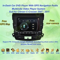 2007- 2011 Citroen C-Crosser GPS Navigation DVD Player ,TV,Multimedia Video Player system+Free GPS map+Free shipping!!!