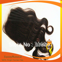 Natural color Body Wave Brazilian Hair Lace Closure