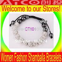 100pcs/lot Shamballa Bracelets Wholesale, free shipping, New Shambhala bracelets Micro Pave CZ Disco Ball Bead